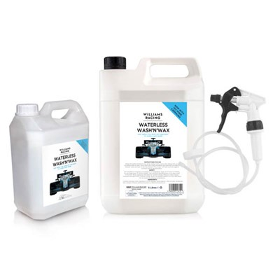 Ultimotive Williams Racing Waterless Wash and Wax 5L plus 2.5L