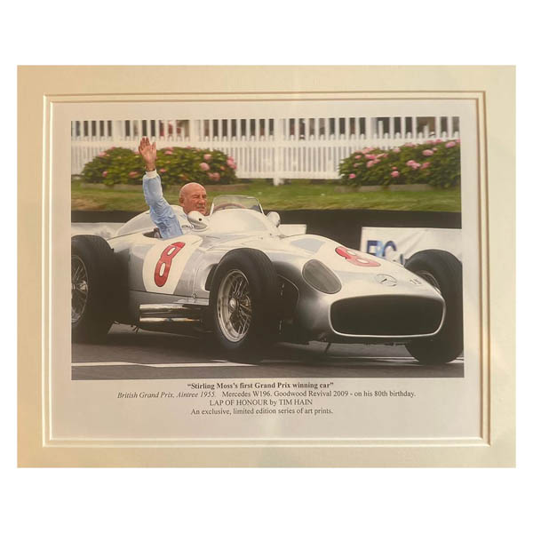 First Grand Prix Winner 1955 Double Signed Mounted Photo Art Print Limited Edition 200 No Colour