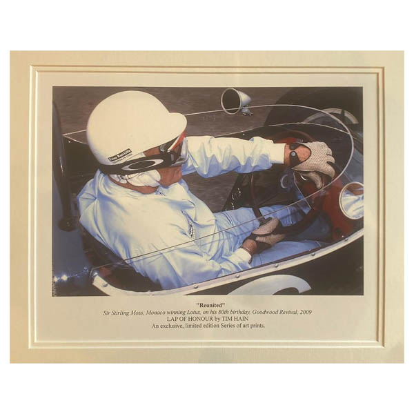 Reunited with Monaco Winning Lotus Double Signed Mounted Photo Art Print Ltd Edition of 200 No Colour