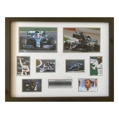 Lewis Hamilton Framed and Mounted Career Celebration Photo Montage Display