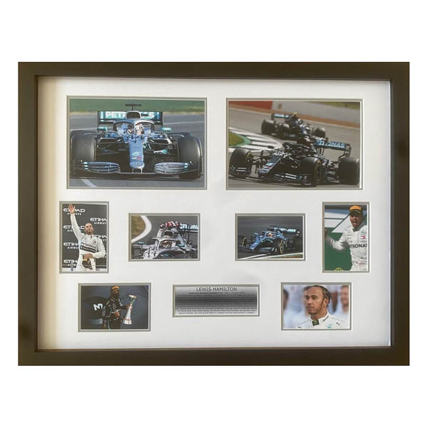Lewis Hamilton Framed and Mounted Career Celebration Photo Montage Display No Colour