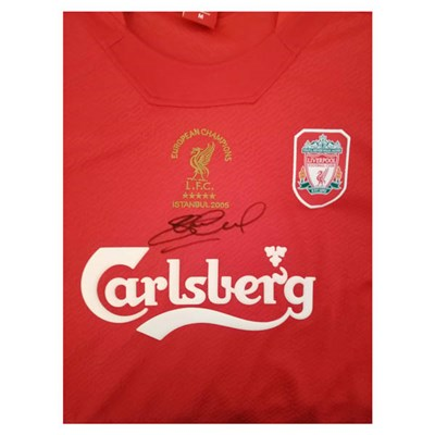 Steven Gerrard Personally Signed Liverpool Football Shirt