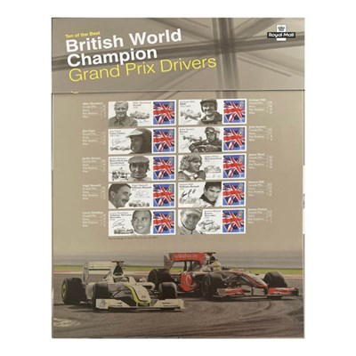 British World Champion GP Drivers 10 Of The Best - Collectors Edition of Official GB Stamps