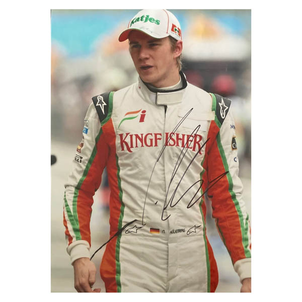 Nico Hulkenberg Colour Photo Personally Signed No Colour