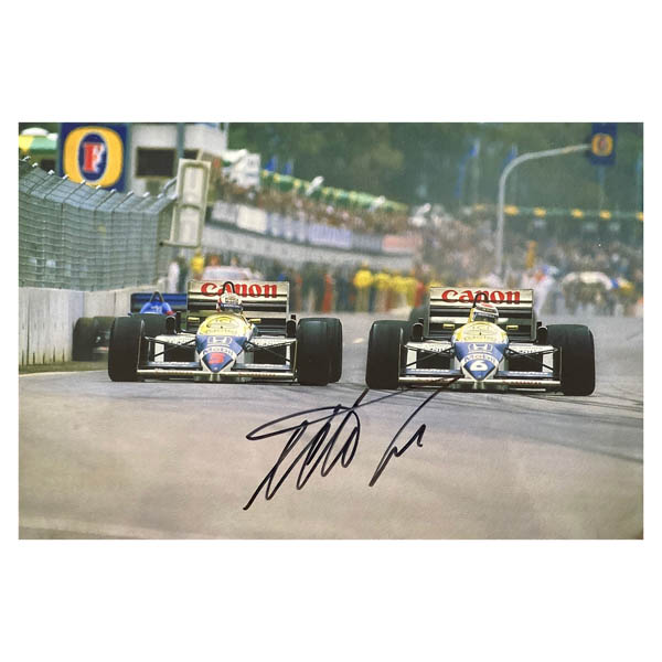 Nelson Piquet Action Photo Personally Signed No Colour