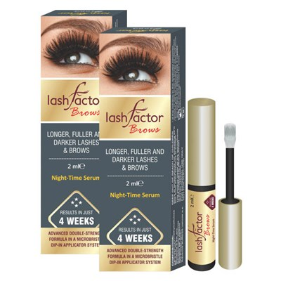Lashfactor Eyelash and Eyebrows Rapid Growth Solution Twin Pack (2 Month Supply)