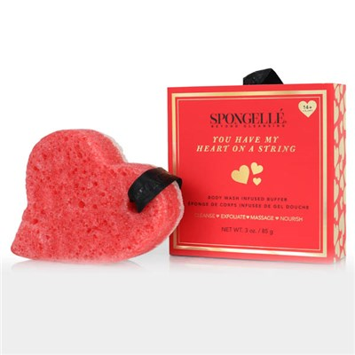 Spongelle You Have My Heart on a String Body Wash Infused Buffer