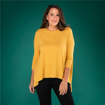 Sugar Crisp Ribbed Sleeve Tunic