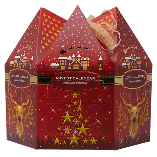Candlewarmers Advent Calendar - 6 x Votives and 18 x Tealights No Colour