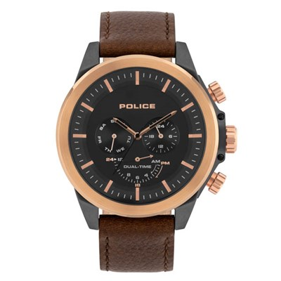 Police Gents Belmont Watch with Genuine Leather Strap