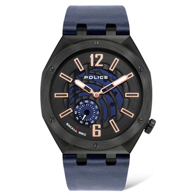 Police Gents Gobustan Watch with Genuine Leather Strap