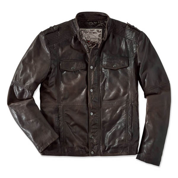 Joe Browns Rugged Leather Jacket Dark Oxblood