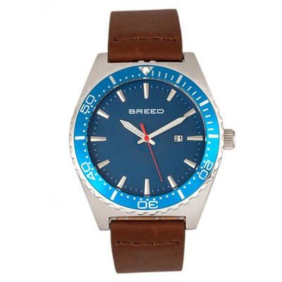 Breed Gent's Ranger Watch with Genuine Leather Strap