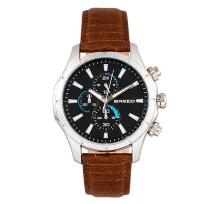 Breed Gent's Lacroix Chronograph Watch with Genuine Leather Strap