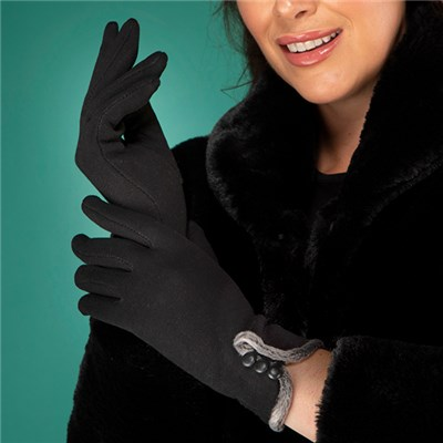 Button Detail Gloves