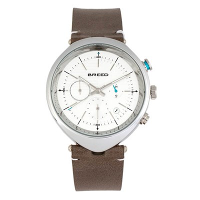 Breed Gent's Tempest Chronograph Watch with Genuine Leather Strap