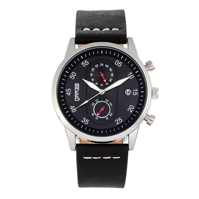 Breed Gents Andreas Watch with Genuine Leather Strap
