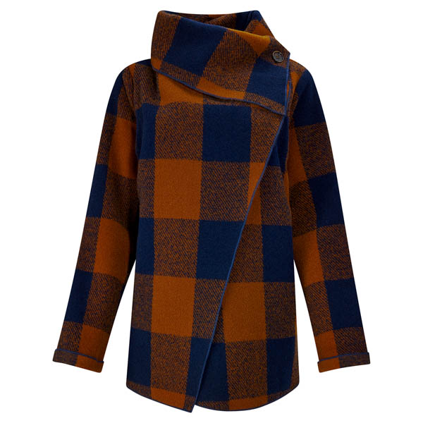 Joe Browns Lightweight Check Jacket Navy/Ochre