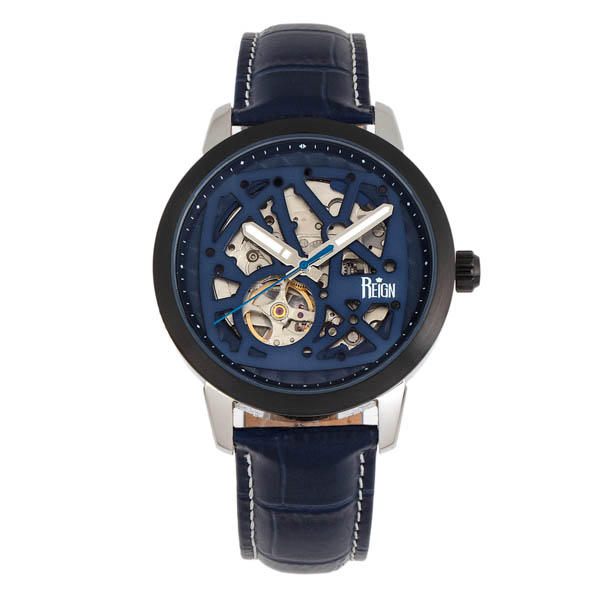 Reign Gents Rudolf Automatic Watch with Genuine Leather Strap Blue