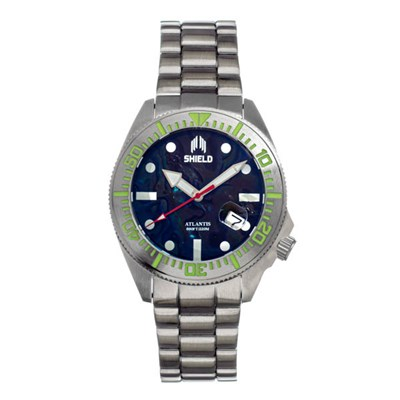 Shield Gents Atlantis Divers Automatic Watch on Stainless Steel Bracelet