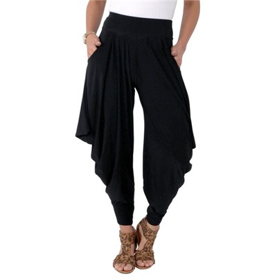 KRISP Womens Drape Harem Trousers Alibaba Yoga Pants Loose Fit Elegant Party Sexy