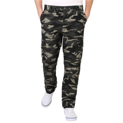 KRISP Mens Combat Outdoors Military Army Camouflage Cargo Trousers Pants Pockets