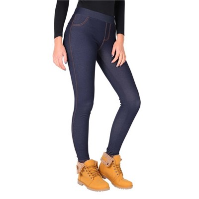 KRISP Womens Jeggings Fur Lined Denim Look Leggings Winter Warm Outddor Thermal