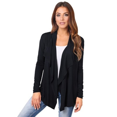 KRISP Lightweight Cardigan Open Front Waterfall Long Sleeve Top Cardi Summer