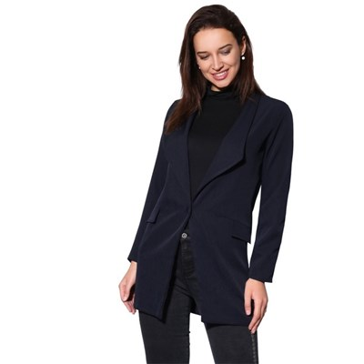 KRISP Oversized One Button Longline Blazer