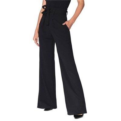 KRISP High Waist Wide Leg Trousers Paper Bag Flared Leg Palazzo Pants