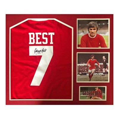 George Best Framed Name & Number Manchester United Shirt Personally Signed by George Best