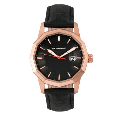 Morphic Gents M56 Series Watch with Genuine Leather Strap