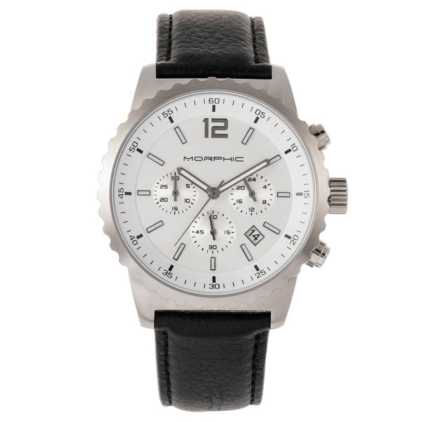 Morphic Gents M67 Series Watch with Genuine Leather Strap Black