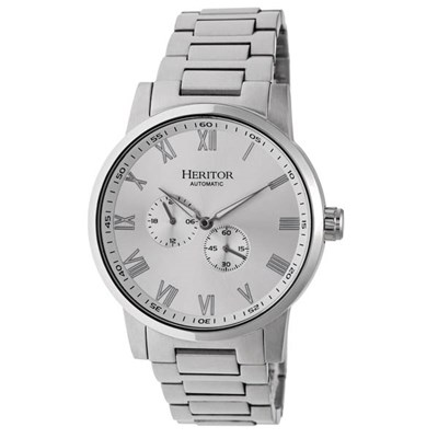Heritor Gents Romulus Automatic Watch with Stainless Steel Bracelet with Gift