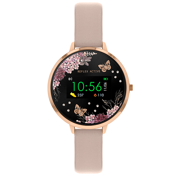 Reflex Active Ladies' Series 3 Smart Watch with PU Leather Strap Pink