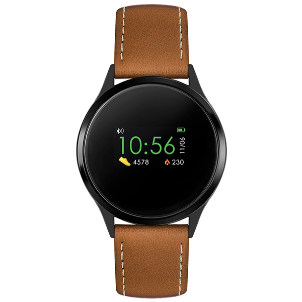 Reflex Active Series 4 Smart Watch with PU Leather Strap Brown