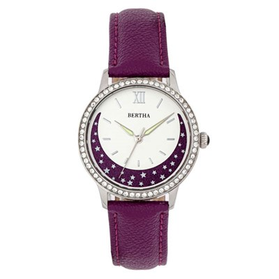 Bertha Ladies Dolly Watch on Genuine Leather Strap