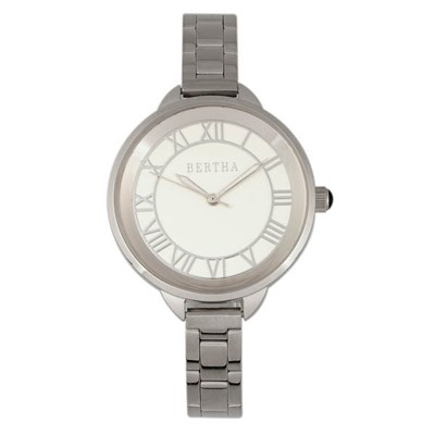 Bertha Ladies Madison Watch with Stainless Steel Bracelet