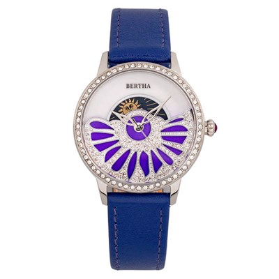 Bertha Ladies Adaline Watch with Genuine Leather Strap