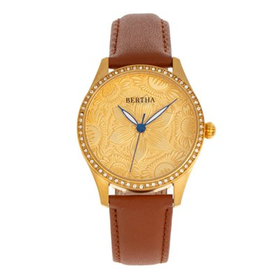 Bertha Ladies Dixie Watch on Genuine Leather Strap