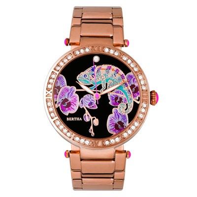 Bertha Ladies Camilla Watch with Stainless Steel Bracelet