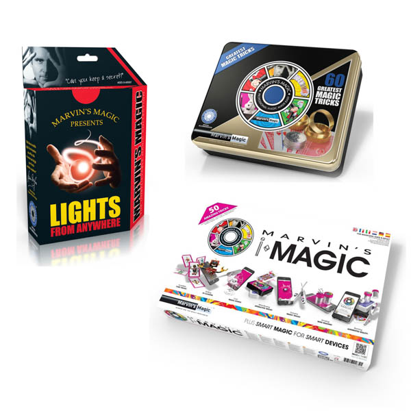 Mind Blowing Magic - Lights fro Anywhere, Marvins iMagic Tricks, Greatest Tricks Tin No Colour