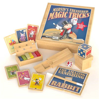 Marvins Treasured Magic Tricks - Wooden Set