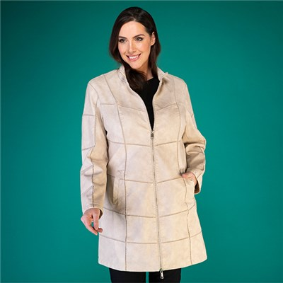 Rino & Pelle Faux Britas Panelled Long Jacket