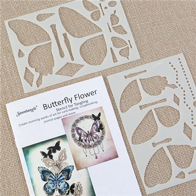 Sanntangle Butterfly Stencils