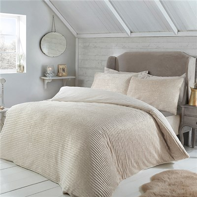 Sparkle Fleece Single Duvet Set