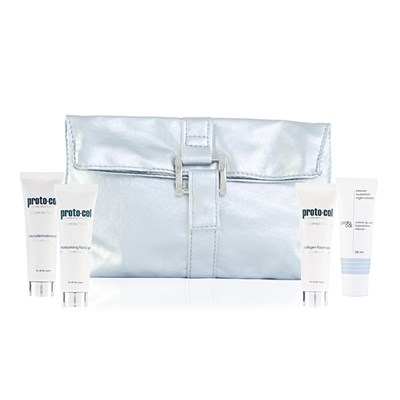 Proto-col 4pc Stocking Filler with Purse (Facemask + Face Gel + Night Cream + Microderm)