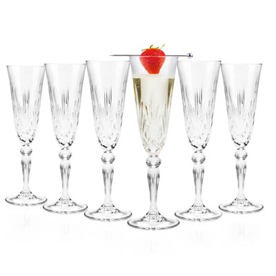 RCR Melodia Crystal Champagne Glasses (6 Pack)