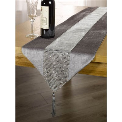 Eclat Velvet Diamante Table Runner 13 x 72 inches
