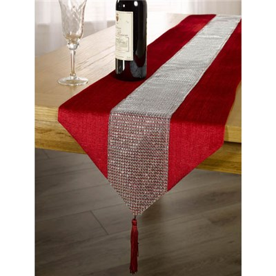 Eclat Velvet Diamante Table Runner 13 x 90 inches